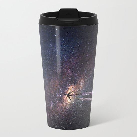 intergalactic space travel Metal Travel Mug