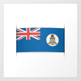 Flag of Cayman Islands. Flag of Cayman Islands. Art Print
