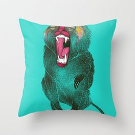The Ultimate Baboon Throw Pillow