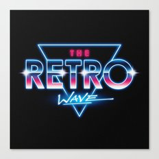The Retro Wave Canvas Print