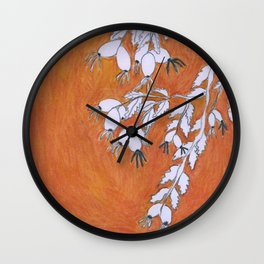 Autumn in Berlin - Brown clolor Wall Clock