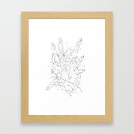 study of hands Framed Art Print