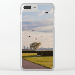 HyperReality Shift. Starling Flyover. Clear iPhone Case