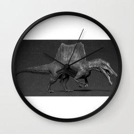 Black Spinosaurus Wall Clock
