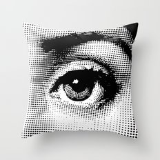 Lina Cavalieri Eye 02 Throw Pillow