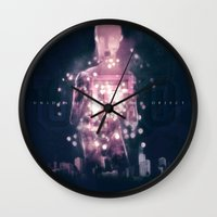 ufo Wall Clocks featuring Ufo by Marc González