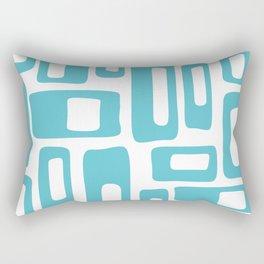 Retro Mid Century Modern Abstract Pattern 336 Light Aqua Blue Green Rectangular Pillow