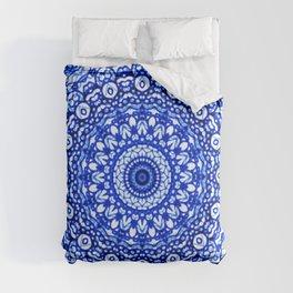 Blue Mandala Mehndi Style G403 Comforters