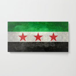 Independence flag of Syria, vintage retro style Metal Print