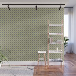 Mellow Purple on Earthy Green Parable to 2020 Color of the Year Back to Nature Polka Dot Grid Wall Mural