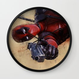 The Acrobatic Merc With A Mouth Wade Wilson - X-Force Wall Clock