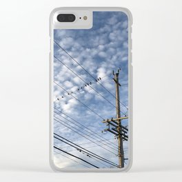 Birds on a wire Clear iPhone Case