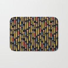 Tiny Pencils Black Bath Mat