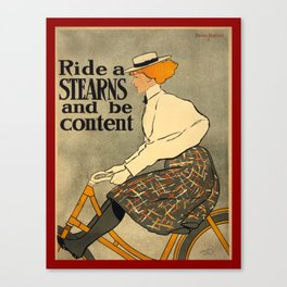 Vintage Bike poster Canvas Print