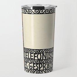 Telephone Conversation (Telefonisch Es Gespräch) 1907 Travel Mug