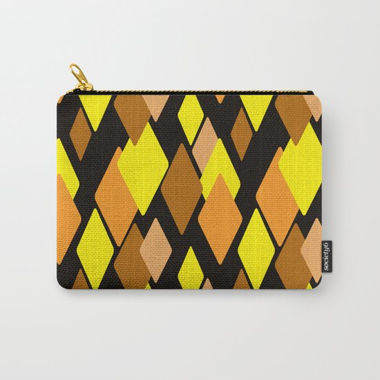 Black and yellow abstract pattern. Diamonds . Carry-All Pouch