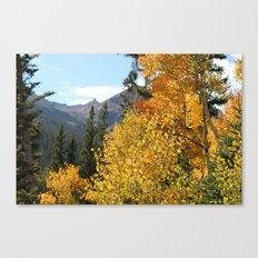Autumn in the Rocky Mountains at Diamond Lake Trail, Eldora Colorado Canvas Print