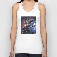 garrus Tank Tops featuring Garrus Vakarian Portrait - Mass Effect by MarcoMellark