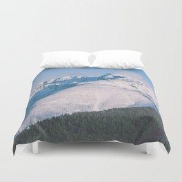 Snow Capped Peaks Duvet Cover