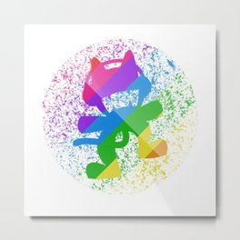 Rainbow MonsterCat Metal Print