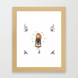Irish Dancing Girl Framed Art Print
