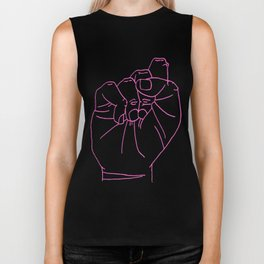 sign Language S Biker Tank
