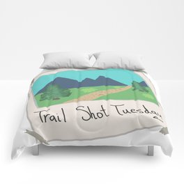 Trail Shot Tuesday Comforters