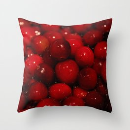 Cranberries Photography Print Throw Pillow