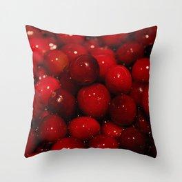 Cranberries Photography Print Throw Pillow