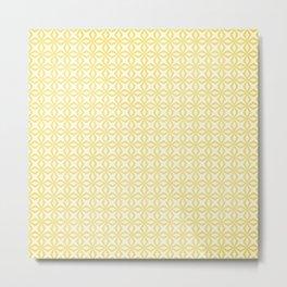 Yellow Starlight Metal Print