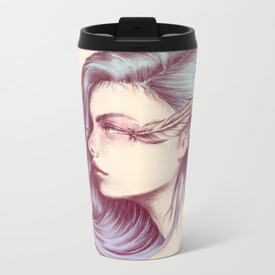 Look Life in the Face Metal Travel Mug