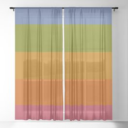 Rainbow Stripes /// pencilmeinstationery.com Sheer Curtain