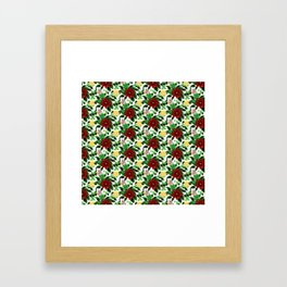 Poinsettia v2 pattern Framed Art Print