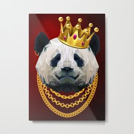 The King of Pandas Metal Print