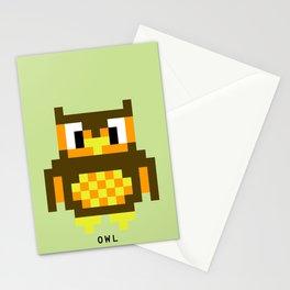 8 Bit Owl Stationery Cards