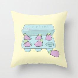 Eggplant Illustration Throw Pillow