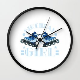 This Awesome Roller Skate Birthday Girl Year Old Shirt Is A Perfect Gift For The Birthday Princess T Wall Clock