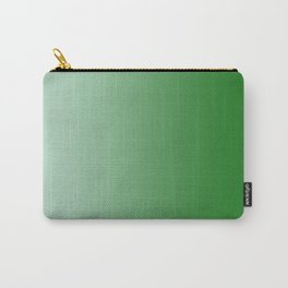 Pastel Green to Green Vertical Linear Gradient Carry-All Pouch