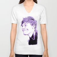 louis tomlinson V-neck T-shirts featuring Louis Tomlinson by Drawpassionn