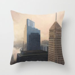 Foshay Tower Throw Pillow