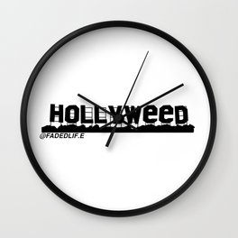 HOLLYWEED Wall Clock