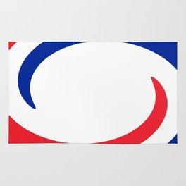 France Flag Whirl Rug