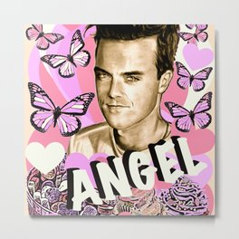 Angel Cupcake Metal Print