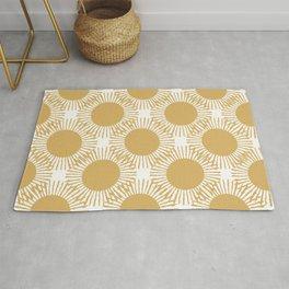 Boho Gold Suns Repeating Pattern Rug