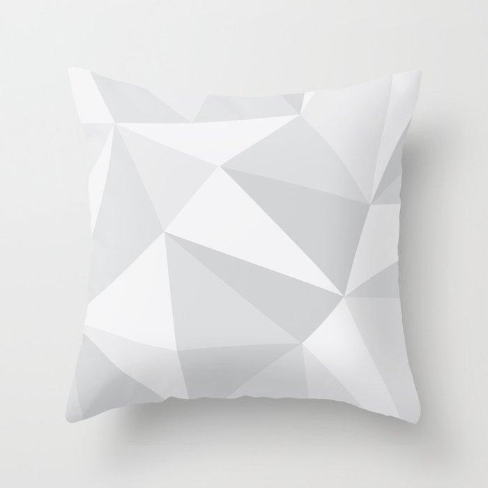 White Deconstruction Throw Pillow
