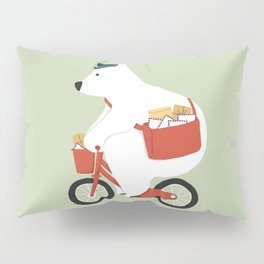 Polar bear postal express Pillow Sham