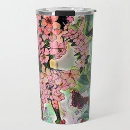 Vintage Flower Fairy Travel Mug