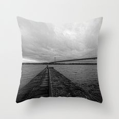 Forth Road Bridge Throw Pillow