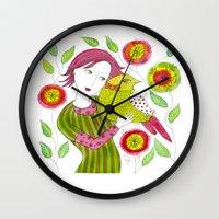 friendship Wall Clocks featuring Friendship by Jessie Lilac