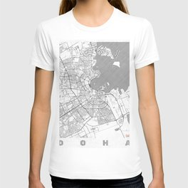 Doha Map Line T-shirt